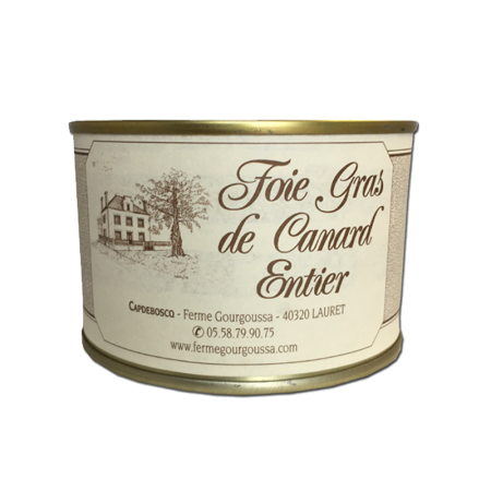 Boîte foie gras 205g (4 parts)